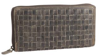 Dámská luxusní kožená peněženka na zip šedá 29786