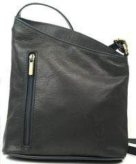 Dámská kožená černá kabelka crossbody Vera Pelle Made in Italy