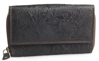 Dámská luxusní kožená peněženka černá přírodní Best Burry