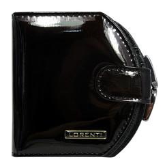Lorenti Dámská lakovaná italská kožená peněženka malá černá 01-13-SH BLACK