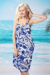 Plážové šaty s květovaným potiskem