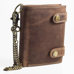 Pánská kožená peněženka BI-FOLD501-HNĚDÁ