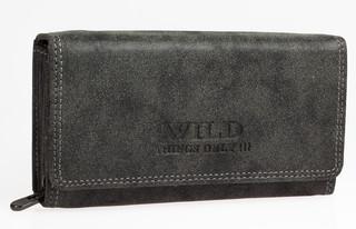Dámská kožená peněženka Wild THINGS ONLY - ČERNA