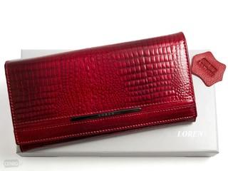 Loren Dámská kožená peněženka červená JP-510-RS RED