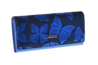 Lorenti Dámská kožená peněženka modrá 72401-NBF BLUE