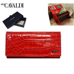Dámská velká kožená červená peněženka Cavaldi GD20-3 RED