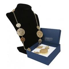 Masivní náhrdelník zlatý s ornamenty Lorenti