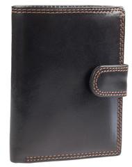 Pánská kožená pěněženka černá Ricardo Ramos KVT-306L