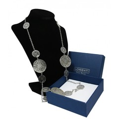 Masivní náhrdelník střibrný s ornamenty Lorenti