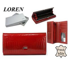 Loren Dámská kožená peněženka červená 72031-RS RED