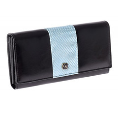 Dámská kožená modrá peněženka Cavaldi PX20-4