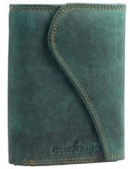 Dámská luxusní kožená peněženka zelená Best Bull