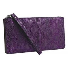 Dámská velká peněženka s poutkem fialová GRD-1141