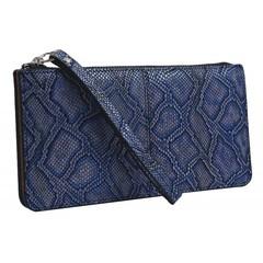 Dámská velká peněženka s poutkem modrá GRD-1141