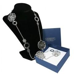 Masivní náhrdelník stříbrný růže Lorenti
