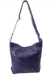 Made in Italy dámská kabelka kožená tmavě fialová Catania