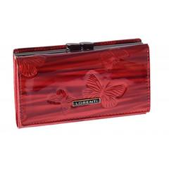 Lorenti Dámská červená italská kožená peněženka s motýly 55020-CKBF RED