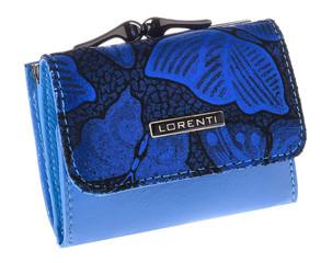 Dámská Kožená Malá Peněženka modrá Lorenti 55287-NBF BLUE
