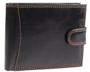 Pánská luxusní kožená pěněženka se zapínáním Ricardo Ramos černá KVT-5600L
