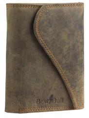 Dámská luxusní kožená peněženka hnědá Best Bull