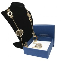 Masivní náhrdelník zlatý s kamínky strom života Lorenti