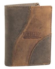 Pánská kožená peněženka na výšku Wild kombi 650093
