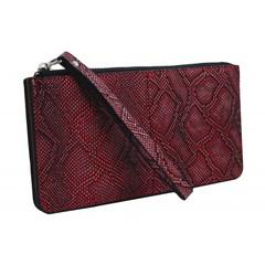 Dámská velká peněženka s poutkem červená GRD-1141