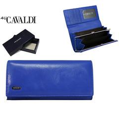 Dámská velká kožená peněženka Cavaldi modrá GD24-1
