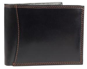 Pánská luxusní kožená pěněženka Ricardo Ramos černá KVT-5600