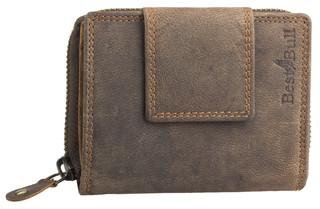 Dámská luxusní malá kožená peněženka hnědá Best Bull