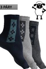 Pánské termo ponožky bussines z ovčí vlny 3 páry