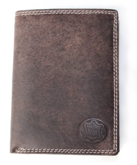 Vera Pelle kožená peněženka tmavě hnědá na výšku