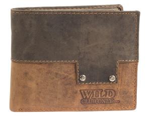 Pánská kožená peněženka na šířku Wild kombi 650094
