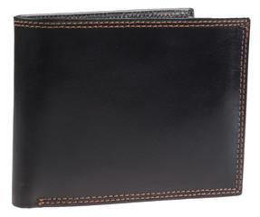 Pánská luxusní kožená pěněženka Ricardo Ramos černá lesklá KVT-333