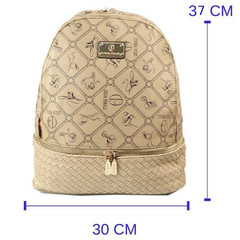 Dámský luxusní batoh béžový italský Giulia Pieralli