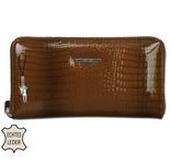 Jennifer Jones hnědá kožená dámská peněženka na zip 5295