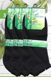Bamboo pánské a dámské bambusové ponožky kotníkové černé 3 páry